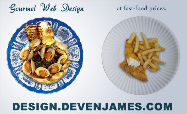 Design.DevenJames.com - Gourmet Web Design