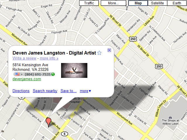 Deven James on Google Maps