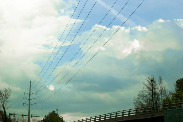 cloudy wires