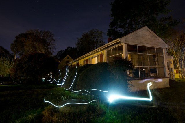 light painting my house