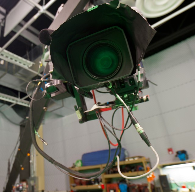 camera in the studio