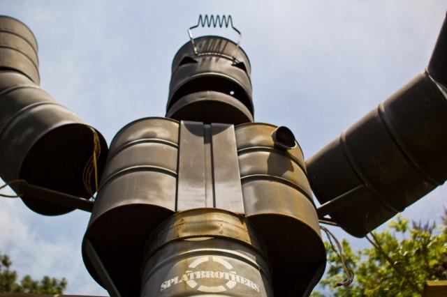 big scary barrel robot monster