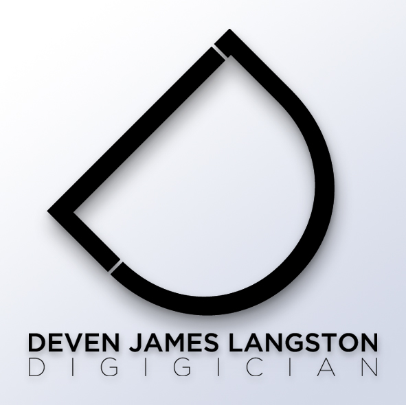new deven james langston logo design