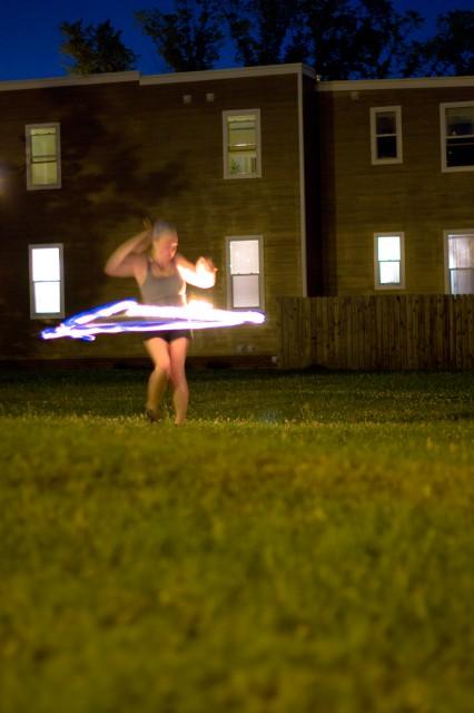 hula hoop girl fire dancer