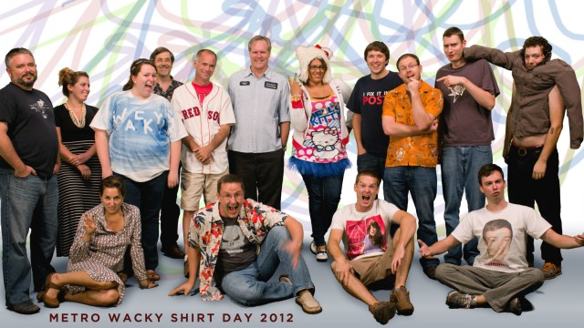 wacky shirt day metro productions 2012