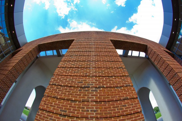 architectural brick mouth smiley