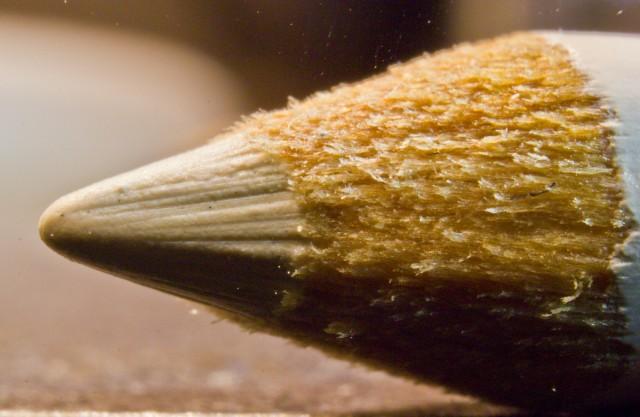 ear pencil close up