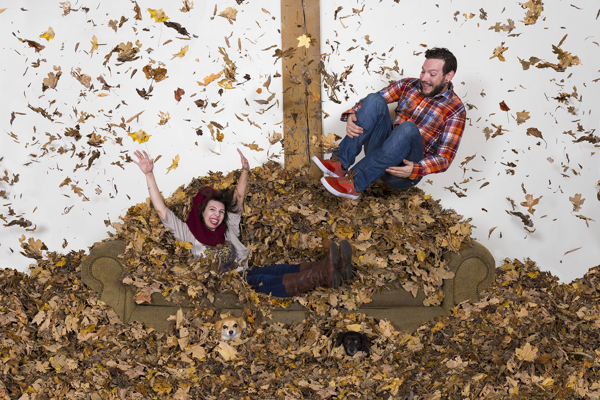 November photoshoot couch couple